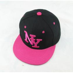 Чёрная/розовая детская бейсболка Kid Snapback New York Black Pink