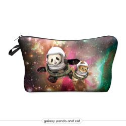 Косметичка-пенал на молнии Cosmetic Bag Galaxy Panda and Cat 3D