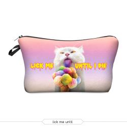 Косметичка-пенал на молнии Cosmetic Bag Lick Me Until 3D