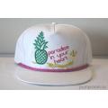 Белая бейсболка с прямым козырьком Paradise Pineapple White Snapback