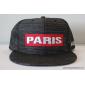 Чёрная бейсболка с прямым козырьком Paris Glance Black Snapback