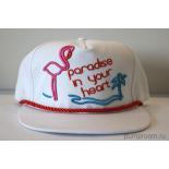 Белая бейсболка с прямым козырьком Paradise Flamingo White Snapback