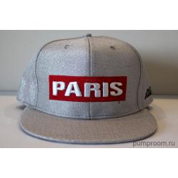 Серая бейсболка с прямым козырьком Paris Glance Gray Snapback
