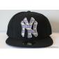Чёрная бейсболка с прямым козырьком New York NY Snapback Black Aztec