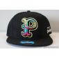 Чёрная бейсболка с прямым козырьком Pink Dolphin Black P Snapback