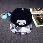 """Чёрная бейсболка с прямым козырьком """"Панда"""" Panda Snapback 3d Triangle Black"""