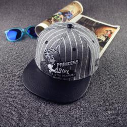 Серая/чёрная бейсболка с прямым козырьком Ariel Little Mermaid Leather Gray Black Snapback