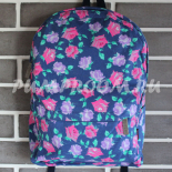 Синий цветочный рюкзак Flower Backpack Blue Red Violet Rose Autumn