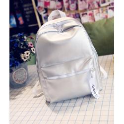 Серебряный городской рюкзак Backpack Silver 2017 Leftfiell
