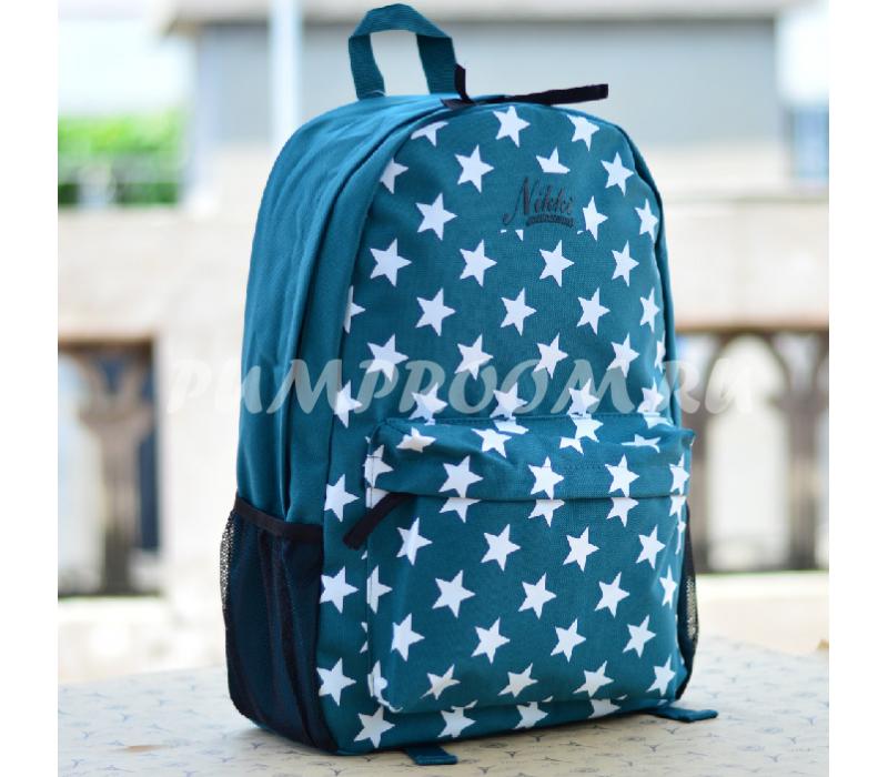 0ba47314fbd5 -58% Тёмно-бирюзовый рюкзак со звёздами Nikki Nanaomi Backpack Mint Stars