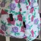 Белый цветочный рюкзак Flower Backpack White Red Violet Rose Autumn