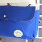 Молочный/синий тканевый рюкзак с лошадьми Backpack Horse Milk Blue