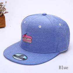"""Синяя бейсболка с прямым козырьком """"Тортик"""" Blue Snapback Pie"""