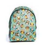 Зелёный городской рюкзак с совами Green Sleep Owl Backpack SL