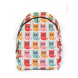 Белый городской рюкзак с совами White Owl Varicolored Backpack SL