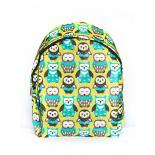 Зелёный городской рюкзак с совами Green Owl Backpack SL