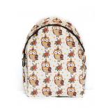 Белый городской рюкзак с совами White Owl Flower Sand Backpack SL