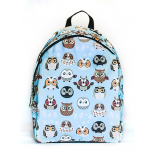 cf3b67456099 -41% Голубой городской рюкзак с совами Owl Light Blue Comic Backpack SL