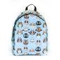 Голубой городской рюкзак с совами Owl Light Blue Comic Backpack SL