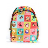 Разноцветный городской рюкзак с совами Color Owl Backpack SL