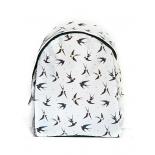 Белый городской рюкзак с колибри Colibri White Backpack SL