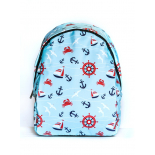 Голубой городской рюкзак с якорями Anchor Sea Blue Backpack SL