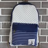 Синий тканевый рюкзак со звёздами Backpack La Tour Eiffel Blue