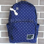 Синий тканевый рюкзак в горошек Backpack Bow Tie Blue Dots