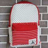 Красный тканевый рюкзак со звёздами Backpack La Tour Eiffel Red