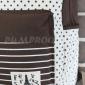 Коричневый тканевый рюкзак со звёздами Backpack La Tour Eiffel Brown