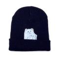 Синяя зимняя шапка с кошечкой показывающей F*CK Beanie Ripndip Nermal Blue