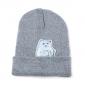 Серая зимняя шапка с кошечкой показывающей F*CK Beanie Ripndip Nermal Gray