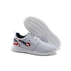 Белые кроссовки с американским флагом Nike Roshe Run White USA ... 9b518ba6b17