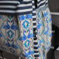 Синий тканевый рюкзак Фламинго Backpack Flamingo Blue