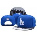 Синяя бейсболка с прямым козырьком Los Angeles La City Blue White