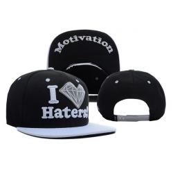 Чёрно-белая бейсболка с прямым козырьком I love haters Motivation Snapback