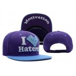 Фиолетовая/голубая бейсболка с прямым козырьком I love haters Motivation Snapback