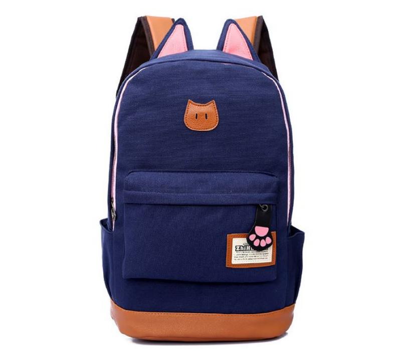 Рюкзак синий в горошек с ушками тактический рюкзак на одной лямке