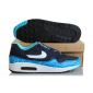 Синие мужские кроссовки Nike Air Max 1 GS Brave Blue/Summit White Black Summit White