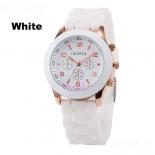 Белые силиконовые женские часы Geneva White Watch