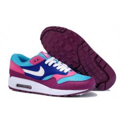 Голубо/фиолетовые женские кроссовки Nike Air Max 1 Essential Women blue/purple