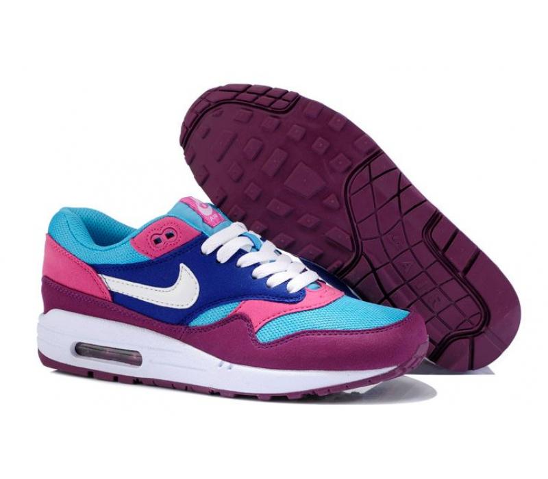 2b41c4bf Голубо/фиолетовые женские кроссовки Nike Air Max 1 Essential Women  blue/purple
