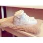 Белые высокие кожаные кроссовки Nike Air force 1 White Mid 07