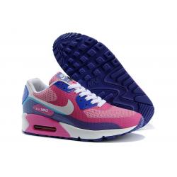 6150b404dd2f Сине-розовые женские кроссовки Nike Air Max 90 Hyperfuse Pink Blue ...