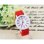 Красные силиконовые женские часы Geneva Basic 2014 Red Watch