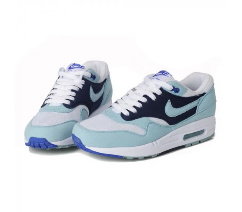 cb8e09d1 Женские голубые кроссовки Nike Air Max 87 Womens Shoes Black White Light  Blue