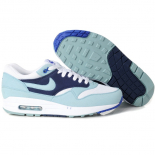 Женские голубые кроссовки Nike Air Max 87 Womens Shoes Black White Light Blue