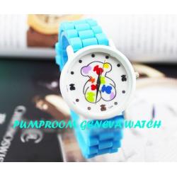 Голубые силиконовые женские часы Geneva Light Blue Tous Watch