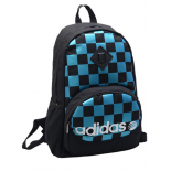 Чёрный молодёжный рюкзак Adidas Original Checkers Black Backpack