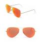 Зеркальные очки с золотой оправой AVIATOR FLASH LENSES RB3025 112/69 58-14